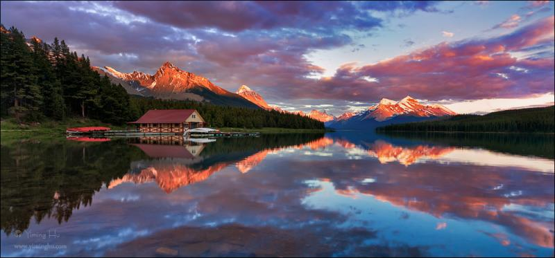 Maligne Lake - Pano