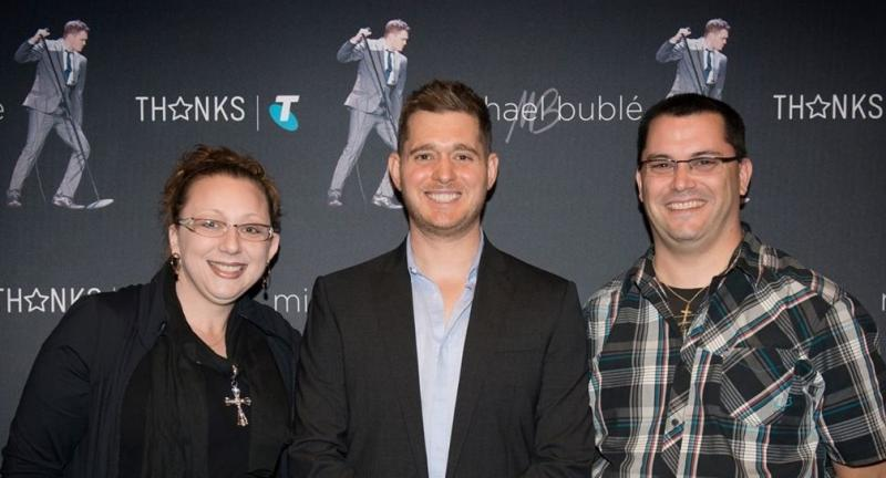 Greg & Jodie with Michael Buble